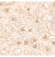 seamless pattern blossomed buds white vector image