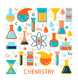 set of icons on a science theme vector image vector image