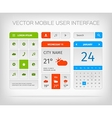Set of mobile user interface and icons for app or vector image vector image