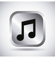 Silver music button design vector image