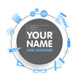 social network web designer avatar place for your vector image vector image