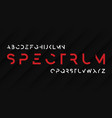 spectrum regular futuristic decorative sans serif vector image vector image