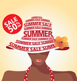 Summer Sale and Flower vector image