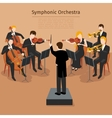 Symphonic orchestra vector image