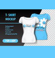 t-shirt mockup with flower and funny phrase in vector image