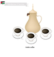 Traditional Arabic Coffee Popular Dink in Jordan vector image vector image