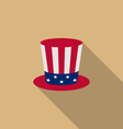Uncle Sams hat for american holidays flat icon vector image vector image