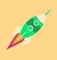 upward rocket with round window vector image vector image