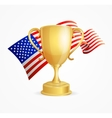 USA Winning Golden Cup Concept vector image vector image