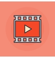 Video flat icon vector image vector image