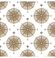 Vintage compass sign seamless pattern vector image vector image