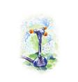 watercolor of watering process with garden sprayer vector image vector image