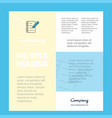 writing on notes business company poster template vector image