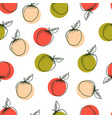 apple hand drawn seamless pattern vector image