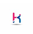letter K logo icons design template elements vector image