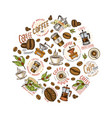 set of coffee modern vintage elements for the vector image