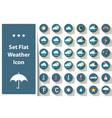 set weather icon cloud sun rain star vector image