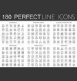 180 outline mini concept infographic symbol icons vector image vector image