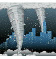 a cyclone disaster in city vector image