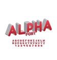 alpha font alphabet letters vector image