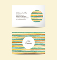 Art business cards vector image vector image