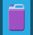bottle with liquid detergent canister cleaner vector image vector image