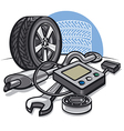 car service vector image