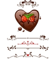 Cartoon strawberry and decorative elements vector image