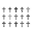 christian cross jesus christ crucifix different vector image