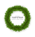 christmas wreath holiday decoration element vector image vector image