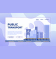 city transportation flat vector image