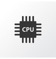 cpu icon symbol premium quality isolated vector image vector image