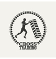 Cross Training man silhouet logo vector image vector image