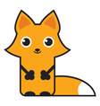 cute cartoon fox vector image vector image