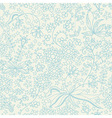 Cute seamless pattern with flowers stars and vector image