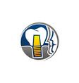 dental implant center vector image vector image