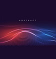 digital glowing abstract wavy lines background vector image