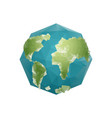 earth polygon planet geometric figure octagon vector image vector image