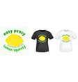 easy peasy lemon squeezy t shirt print stamp vector image