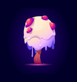 fantasy tree with candy crown for ui magic game vector image vector image