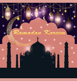 festive greeting card for ramadan with temple vector image vector image