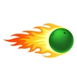 Flaming bowling ball vector image vector image