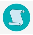 Flat icon paper scroll Flat design