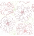 floral wallpaper with poppy flowers vector image