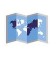 folded map world navigation location vector image