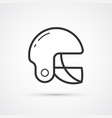 football american helmet sport icon eps10 vector image