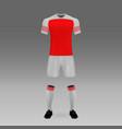 football kit vector image vector image