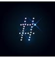 Gems symbol Shiny diamond font vector image vector image