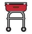 grill cook cartoon vector image