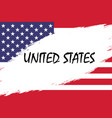 grunge styled flag vector image vector image
